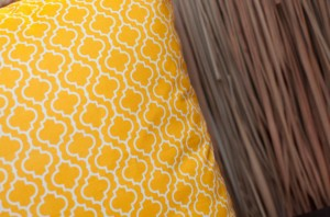 yellow moroccan inspired fabric