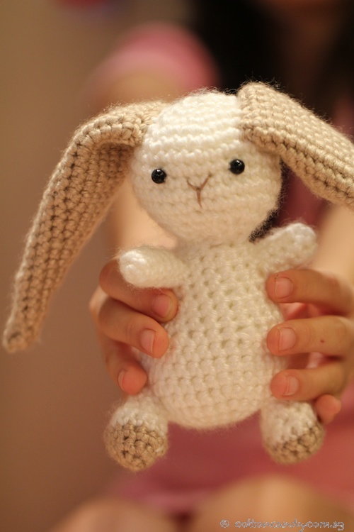 Cotton Candy Crochet Bunny