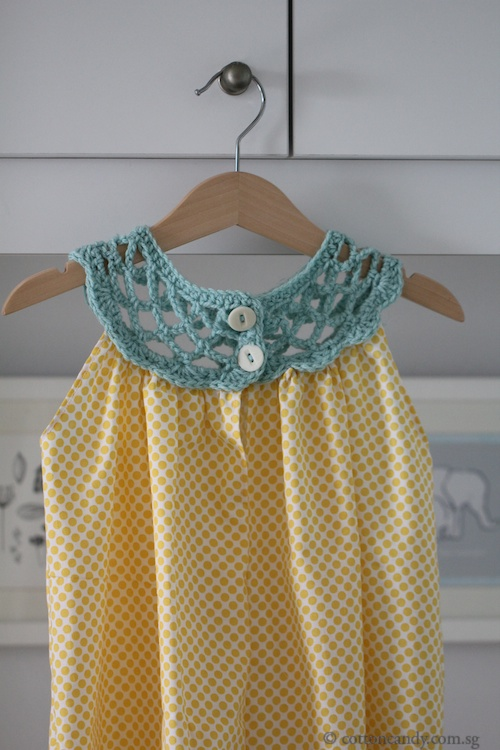 crochet collar dress