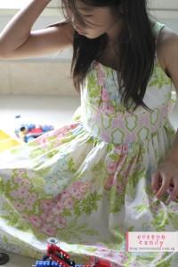 Josie dress in heather bailey fabric