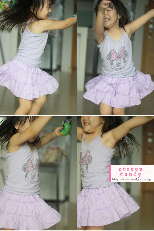 twirling purple skirt
