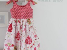 Strawberry tea party dress